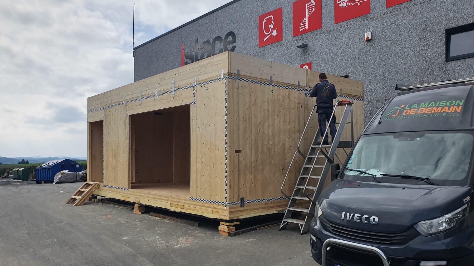 Construction de 2 modules de bureau (1)