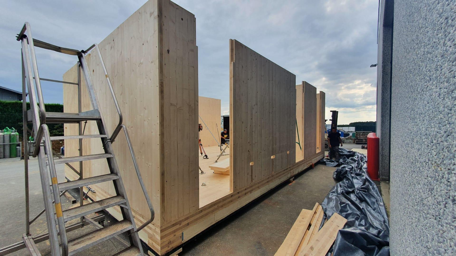Construction de 2 modules de bureau (2)