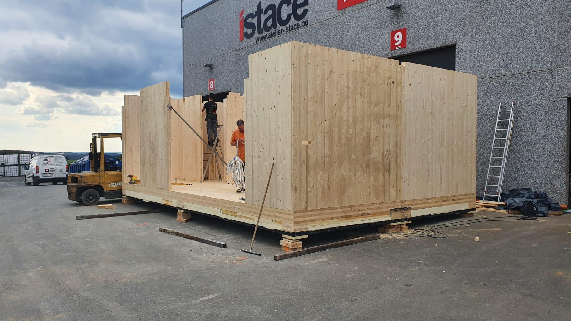 Construction de 2 modules de bureau (3)