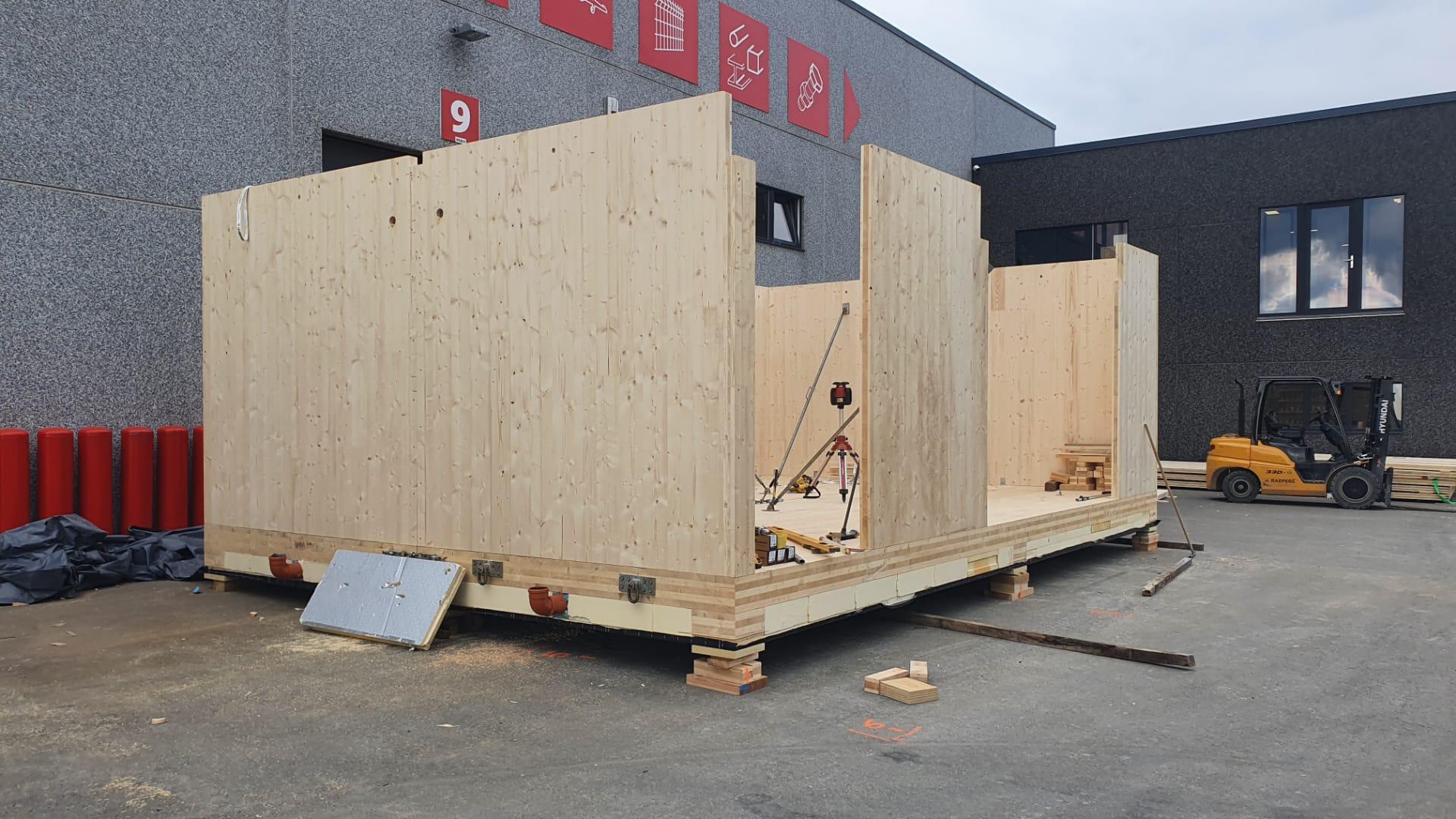 Construction de 2 modules de bureau (9)