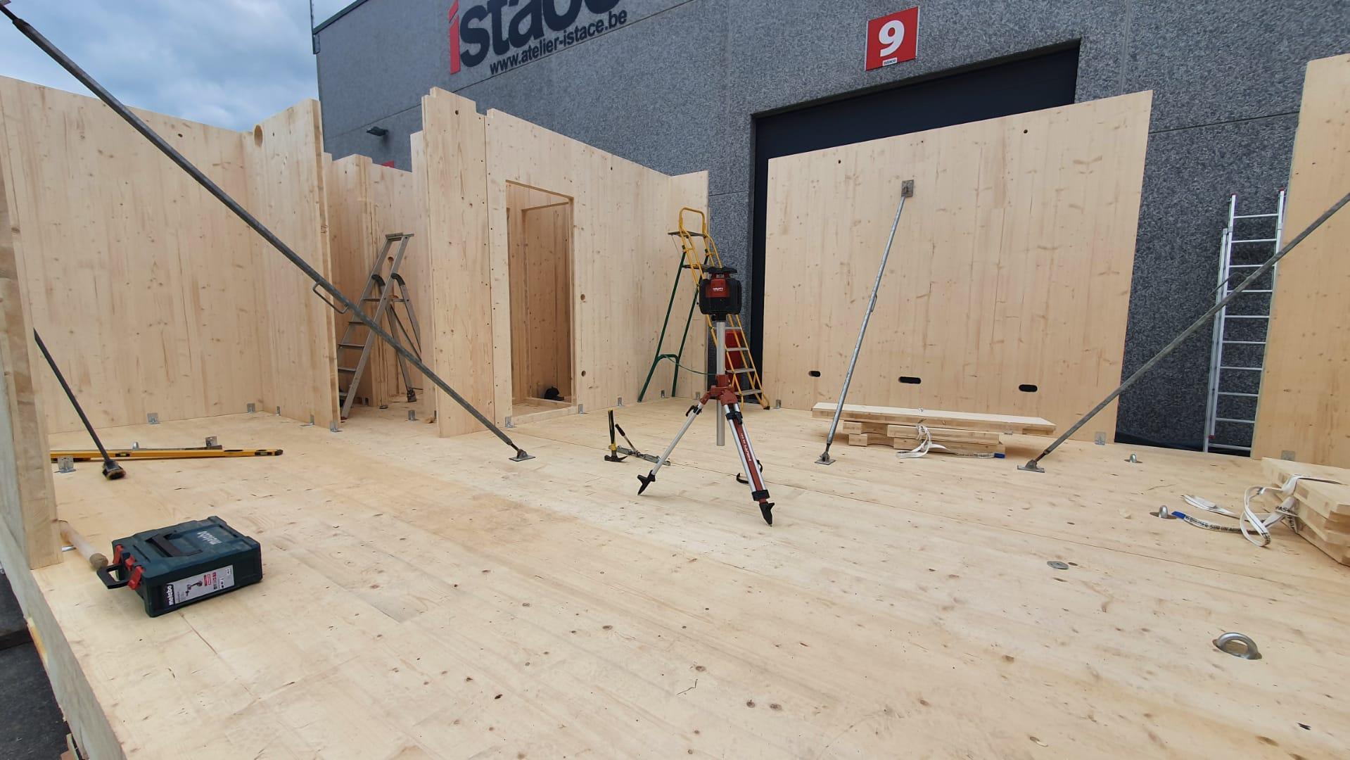Construction de 2 modules de bureau (10)