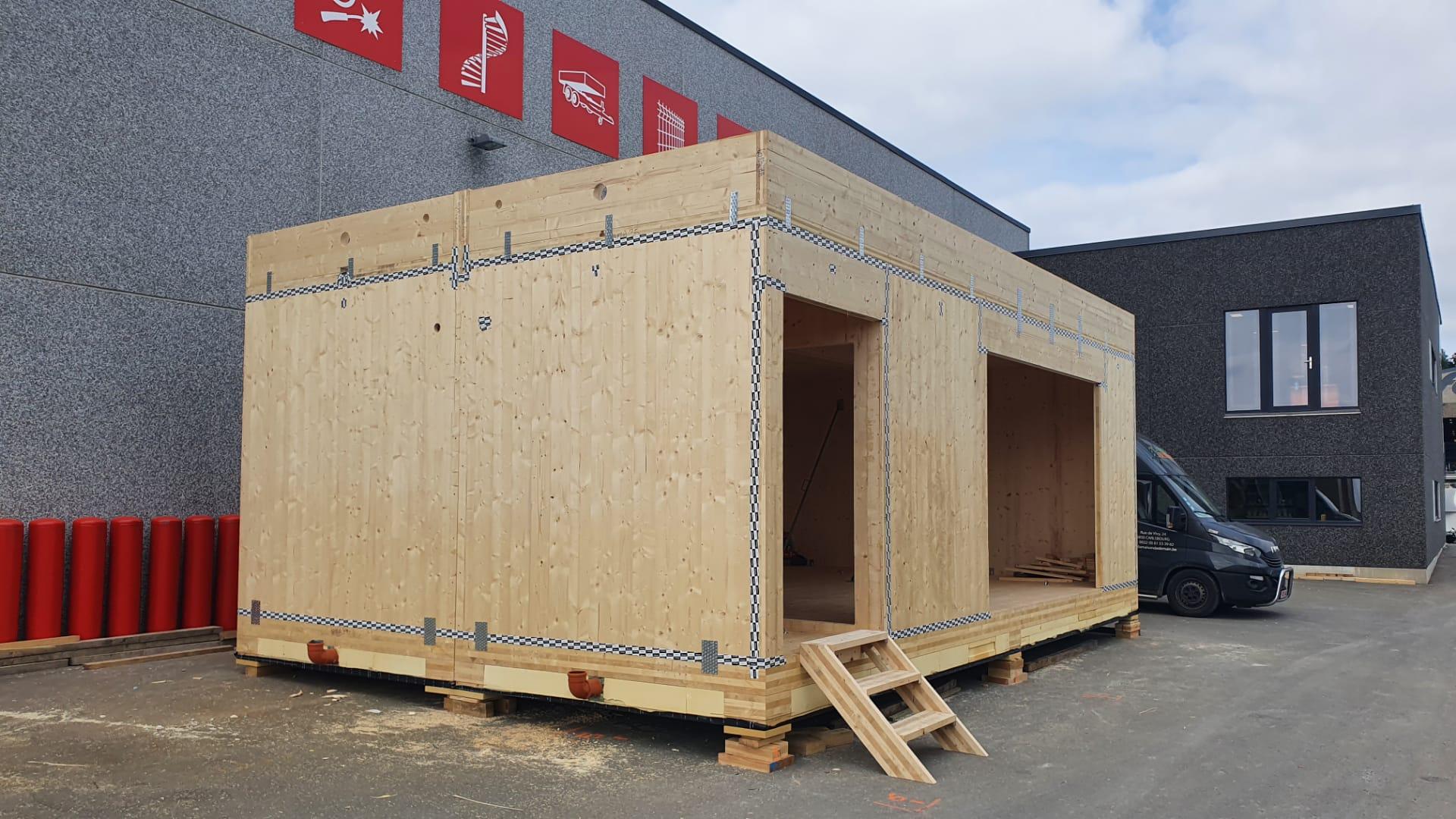 Construction de 2 modules de bureau (12)
